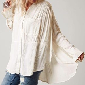 "NWT Free People ""Cozy Nights"" button down tunic"